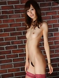 Slim and sexy Japanese av idol Aino Kishi strips infront of you and takes a shower naked
