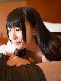 Cute and innocent Japanese av idol Marie Konishi shows the way of blowjob skills