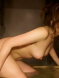 Lovely and horny Japanese av idol Rui Shinohara has sex in the dark